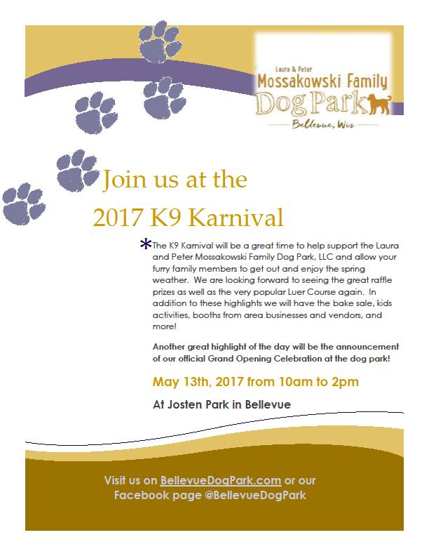 2017 k-9 karnival poster