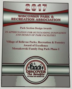 Wisconsin Parks, Recreation & Forestry Award 2017